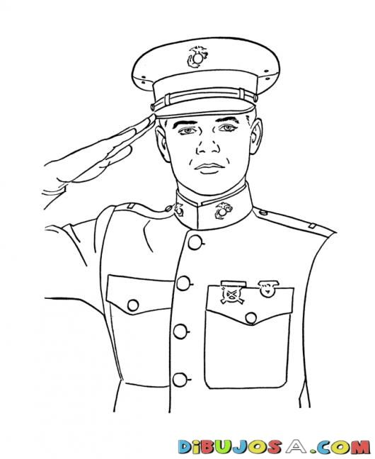 Saludo Militar Dibujo De Joven Cadete Capitan Marina Para Pintar Y Soldados Dibujo Reto De Dibujo Condecoraciones Militares