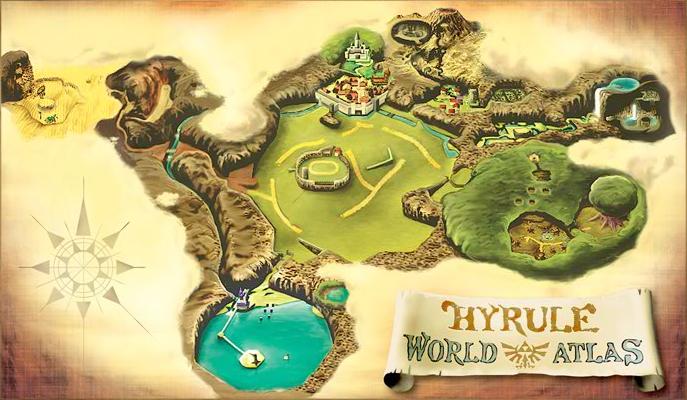 Risultati immagini per hyrule ocarina of time map