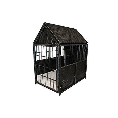 Iconic Pet Rattanwicker Pet Crate For Indooroutdoor Use