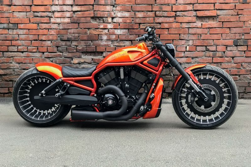 Harley Davidson Night Rod Special Orange By Box39 Harley Davidson Night Rod Night Rod Special Custom Bikes Awesome
