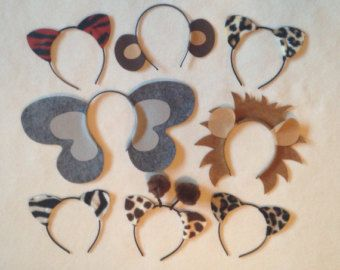Variety Animal Ears Headbands Birthday Party Petting Zoo Costume
