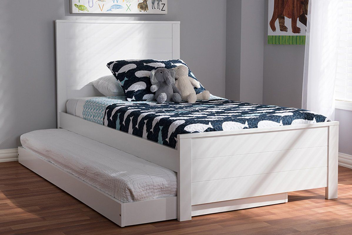 Harvill Twin Bed with Trundle Twin trundle bed, Bed