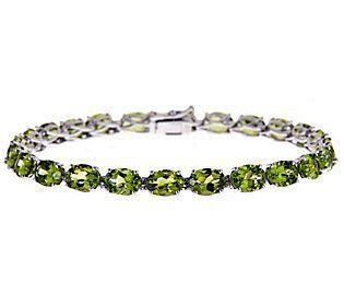 Peridot bracelet in sterling silver - Stone size 4x7mm wc3VD