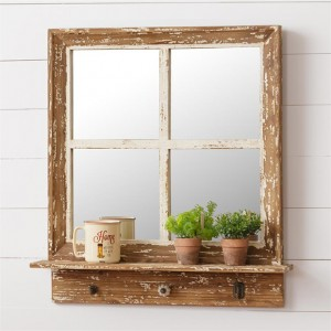 The Painted Rose Antique Farmhouse Window Frame Decor Window Frame Mirror Wooden Window Frames