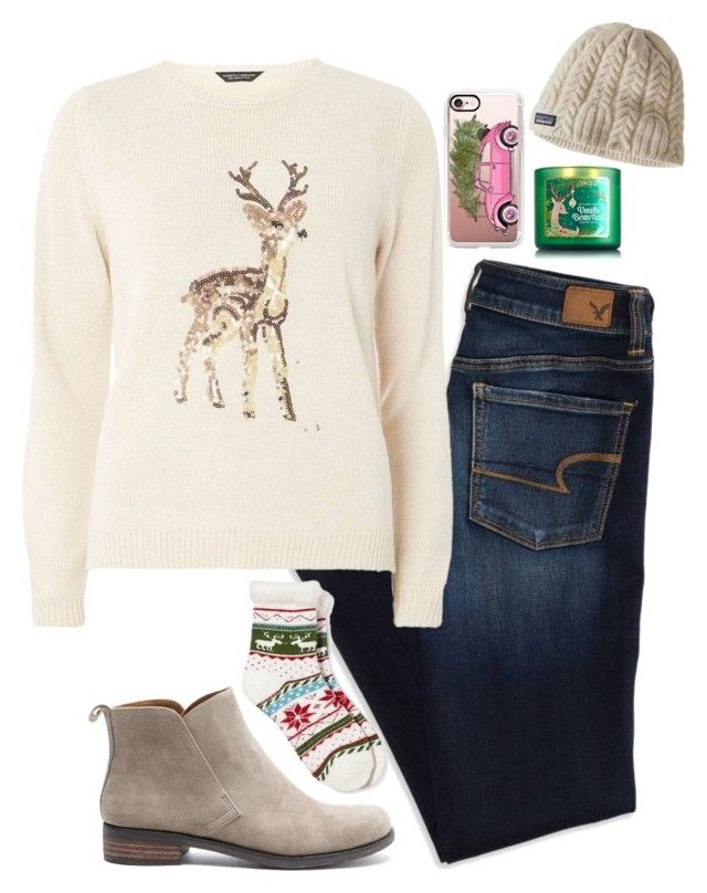 """""""exams are over, i can focus on Christmas now!"""" by mmorgann ❤ liked on Polyvore featuring American Eagle Outfitters, Dorothy Perkins, Casetify, Legale, Patagonia and Lucky Brand"""