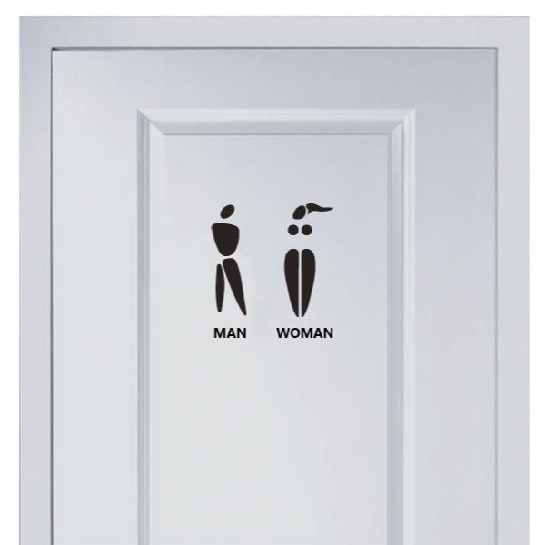 Creative Marks For Men And Women S Toilet Sticker Caballeros Damas