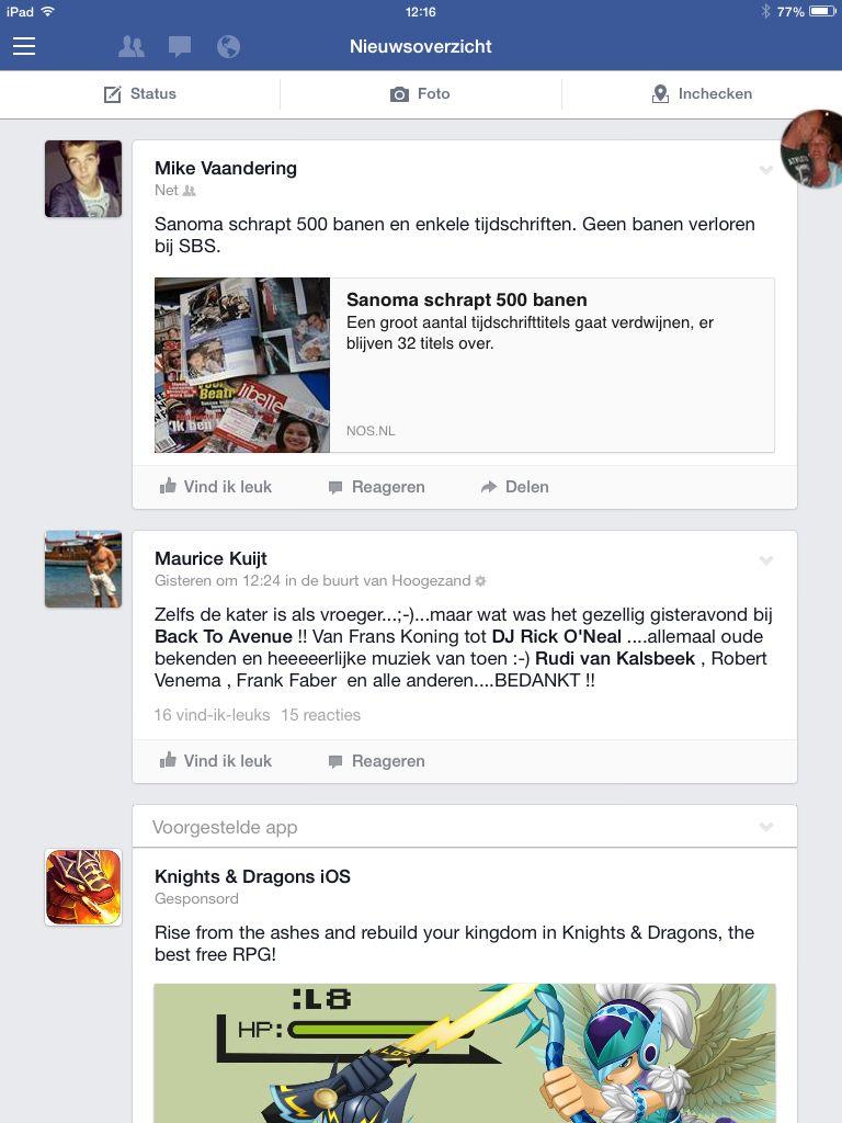 Facebook screenshot #1