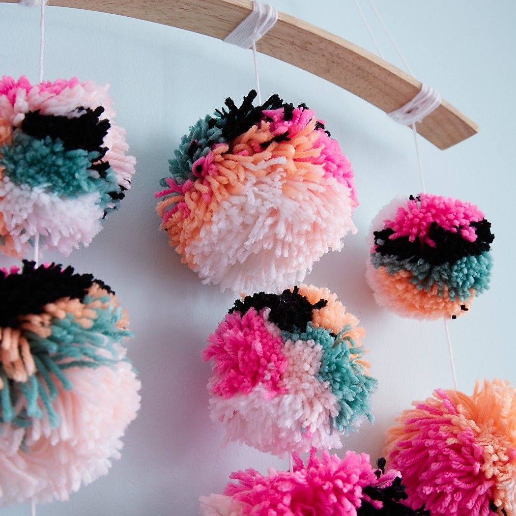 Shop Pom Pom Baby Mobile. Everything is better with pompoms. And ...