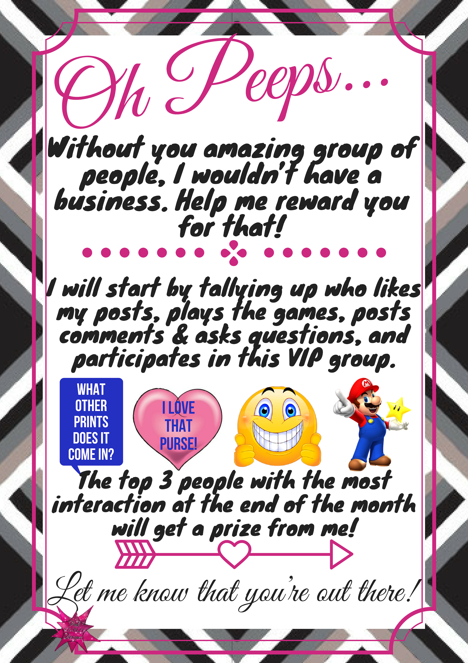 Top participants interaction graphic for Facebook VIP group