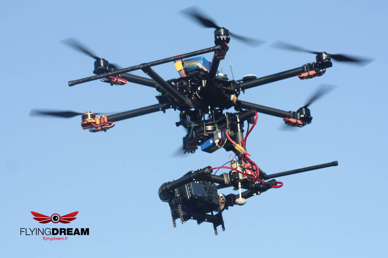 Flyingdream Drone (UAV) - Full carbon frame Hexacopter - 810 Tarot ...