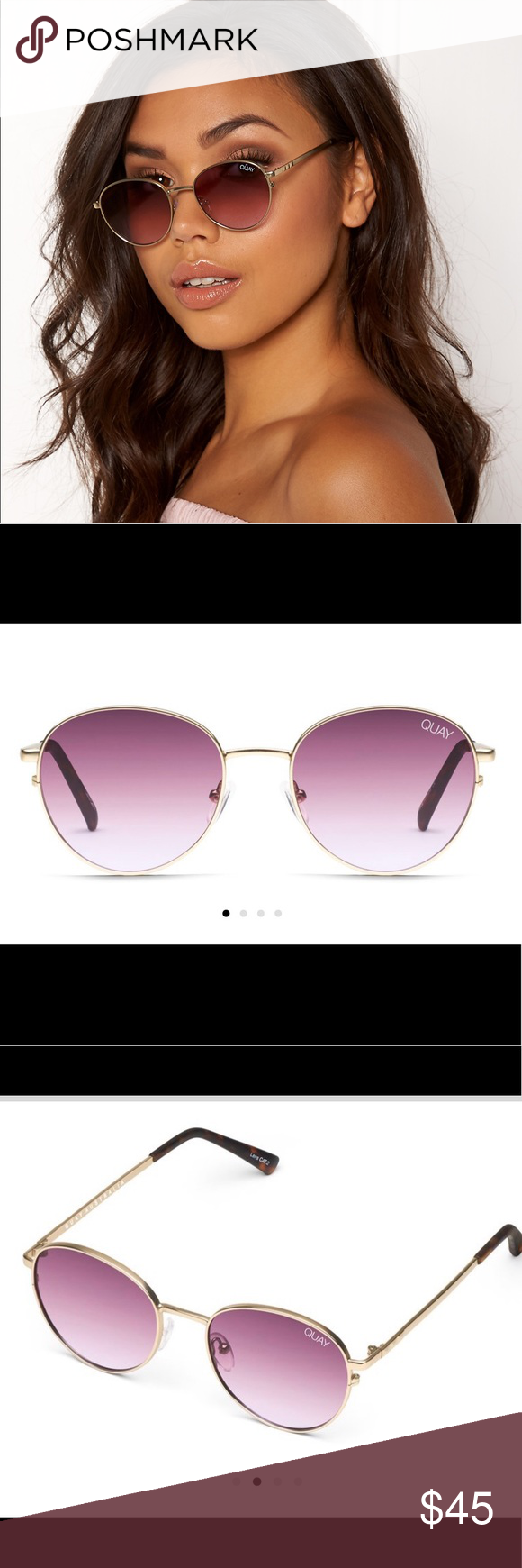 8de3ac8151 QUAY Crazy Love GLD PURP Sunglasses BRAND NEW Quay Australia Crazy Love  sunglasses. Gold Purple color. Brand new in packaging. Quay Australia  Accessories ...
