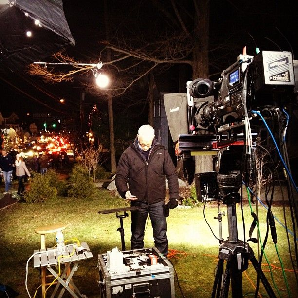 Anderson Cooper checks his text messages in between live shots. @ Sandy Hook, CT http://instagr.am/p/TR7pbonz-p/