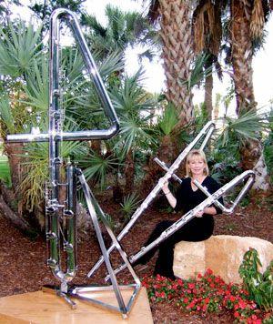 Some very large flutes | Art music, Flute, Flutist  Double Contrabass Flute Case