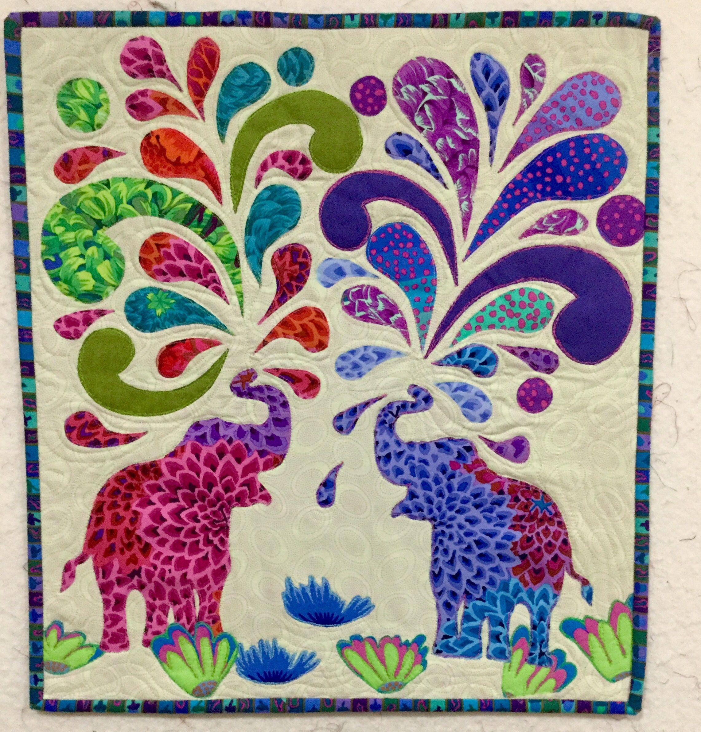 Paisley Splash Elephant Quilts Pattern Elephant