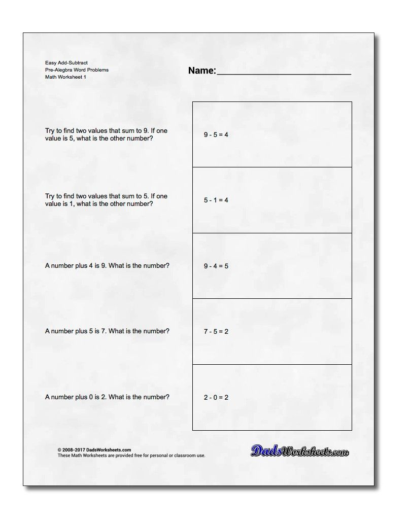 worksheet Pre Algebra Word Problems free math worksheets for pre algebra word problems with answer key http