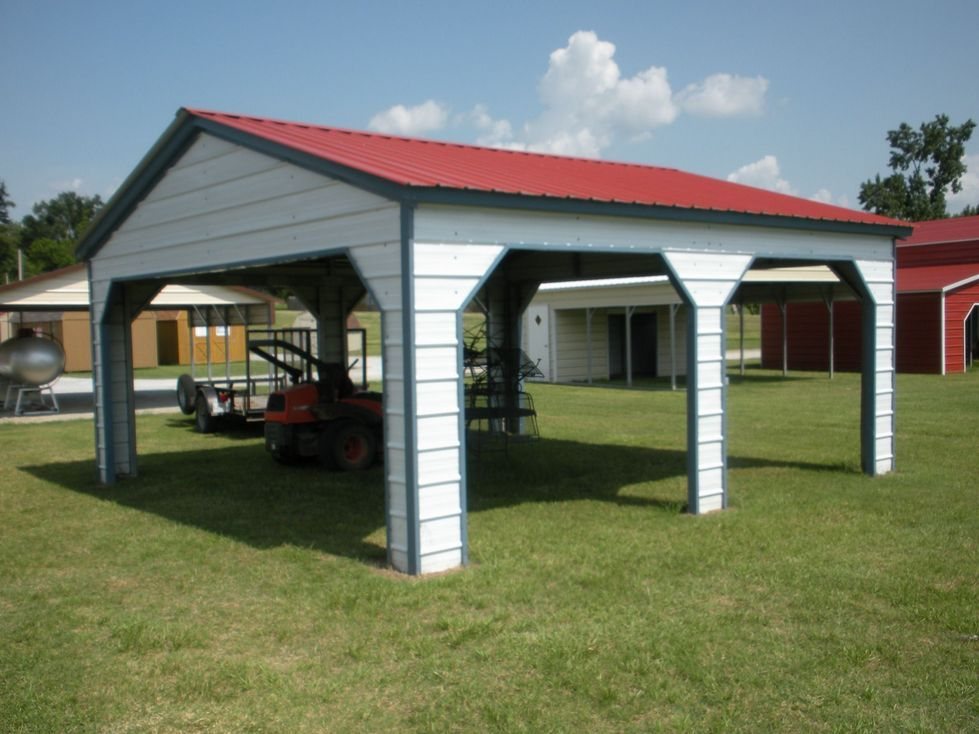 Vertical Roof Side Entry Carport GA Carport