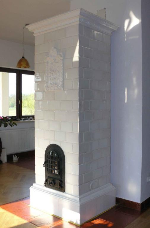Kominek Piec Kaflowy Kafle Kwadratele Kuchenne Facade House Solid Fuel Stove Oven Fireplace
