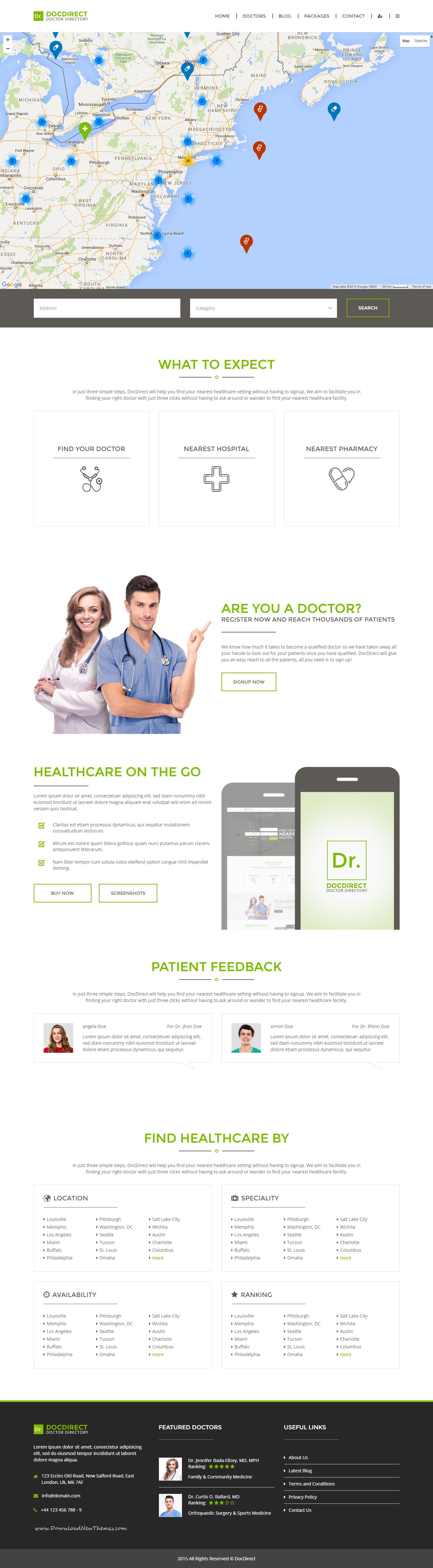 DocDirect - Responsive Directory HTML Template for Healthcare ...