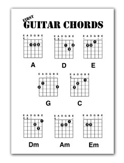 teaching children guitar free printer friendly chord