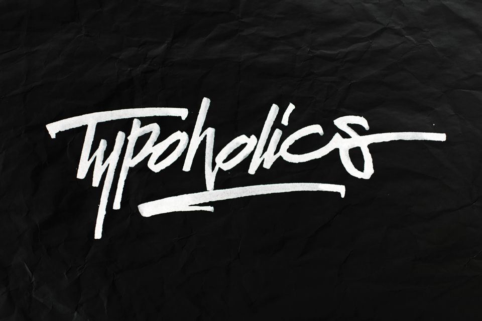 """Typoholics"". #lettering #handlettering #typography #calligraphy #ruling_pen http://www.behance.net/vetoshkin_igor"