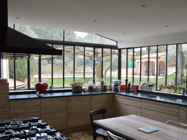 une verri re l 39 ancienne pour une cuisine dans un jardin