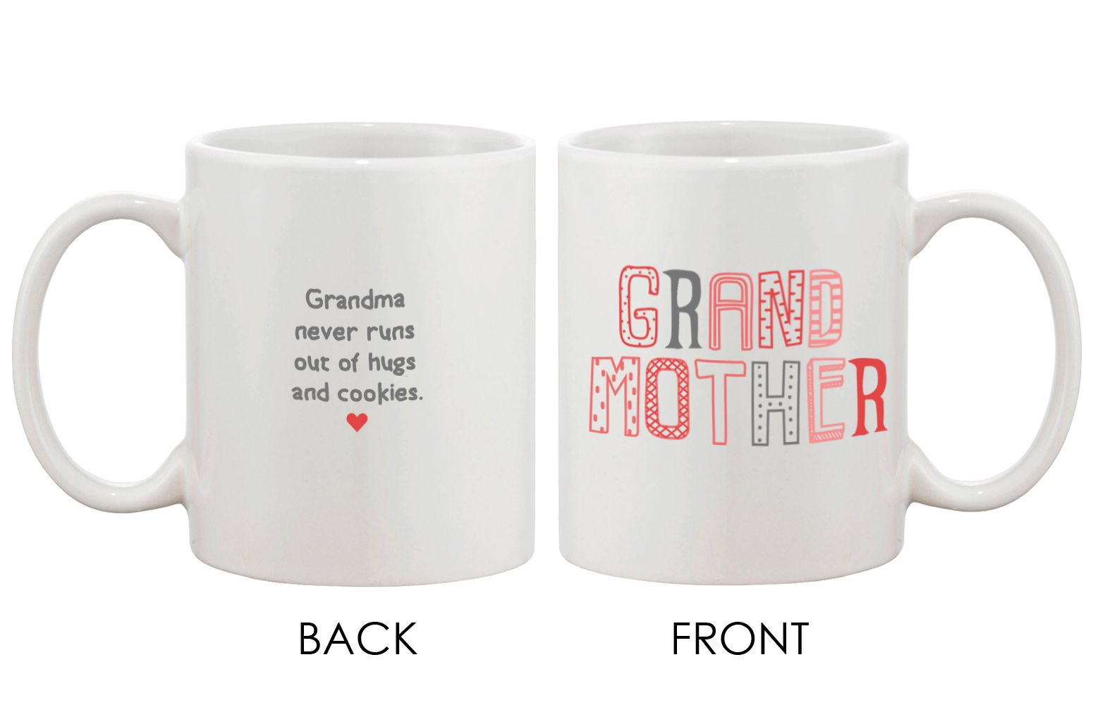 Grandpa and grandma matching mug cups for grandparents day