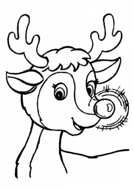 Rudolph The Red Nosed Reindeer Dibujo De Rodolfo El Reno De Santa ...