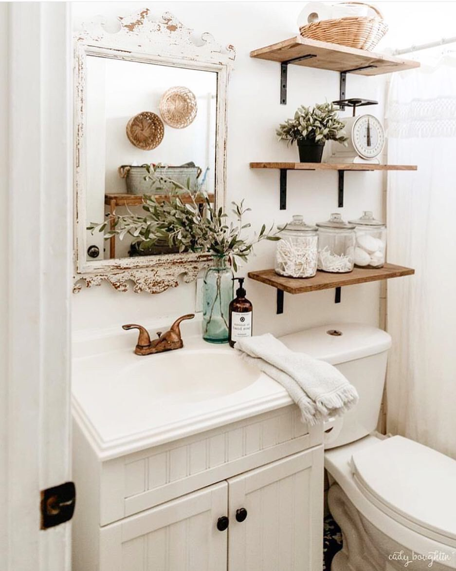 Pretty White Bathroom With Vintage Touches