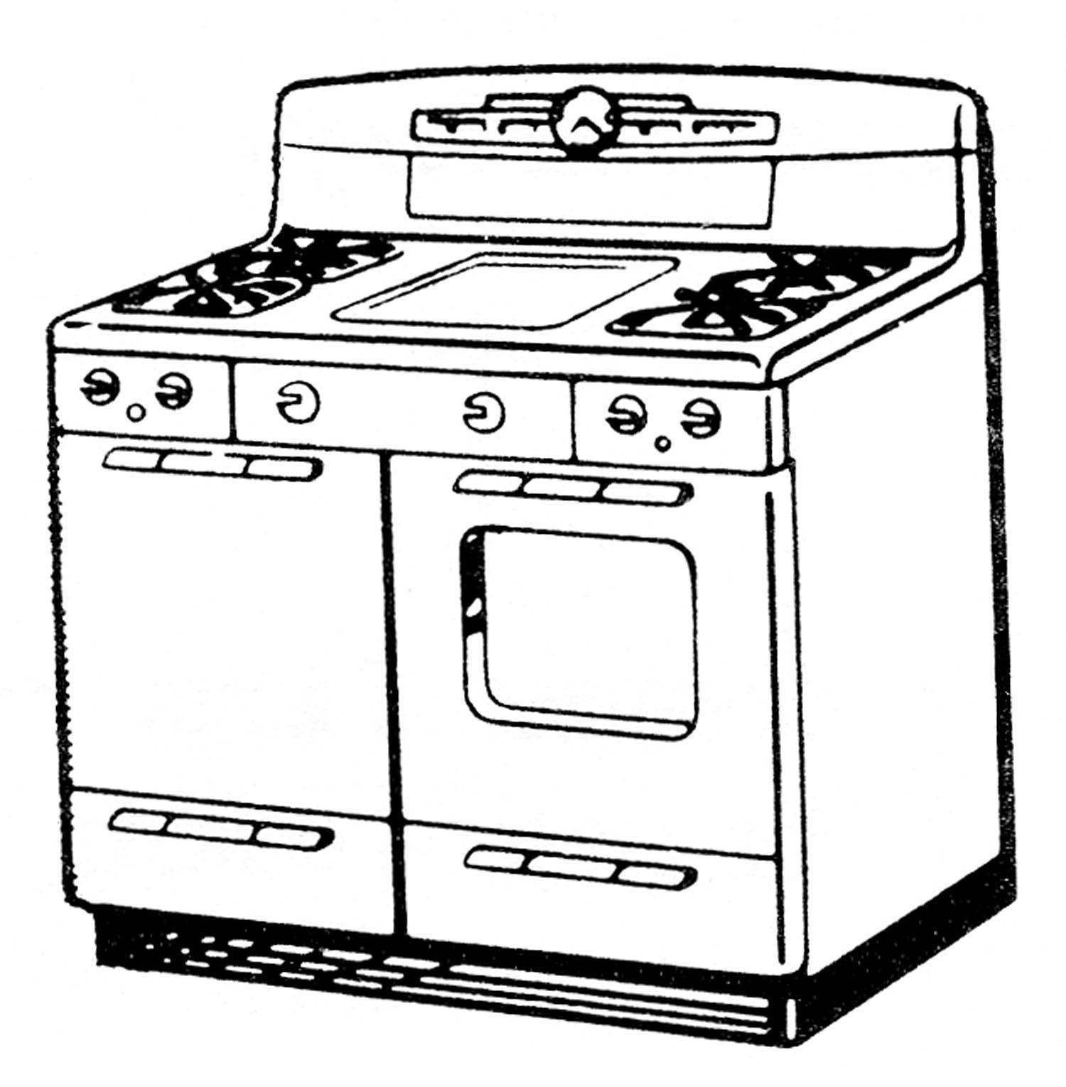 free downloads vector cute retro stoves pinterest clip art rh pinterest com store clip art images gas stove clipart