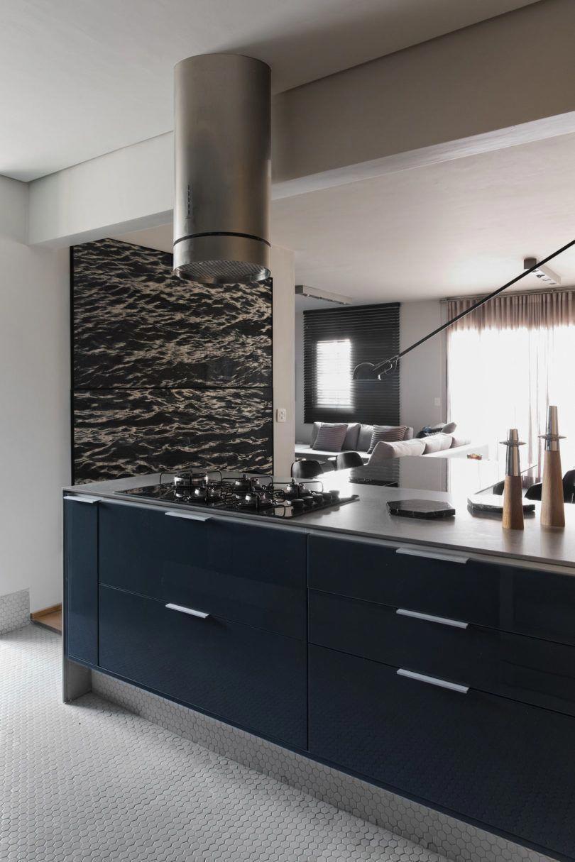 A são paulo apartment inspired by petroleum blue design milk