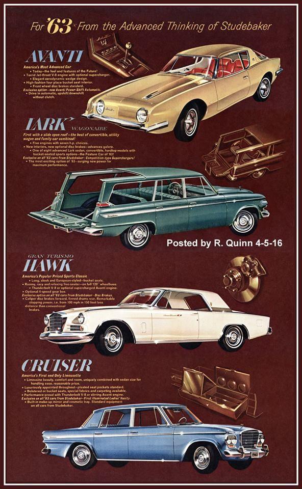 1963 Studebakers | Studebaker: 1961 - 1966 | Pinterest | Cars, Ads ...
