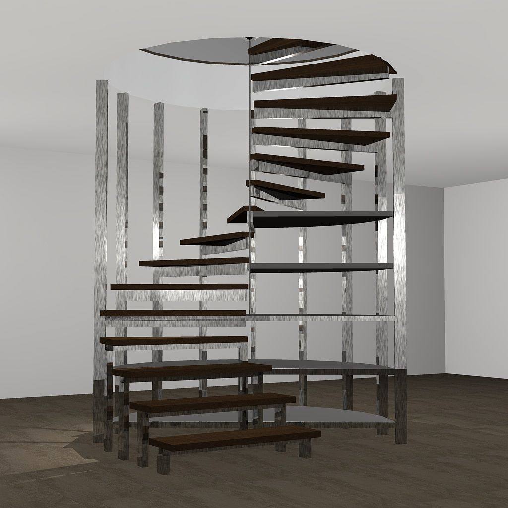 Vista frontal. Proyecto de escalera de Caracol para Fran de Ernesto ...