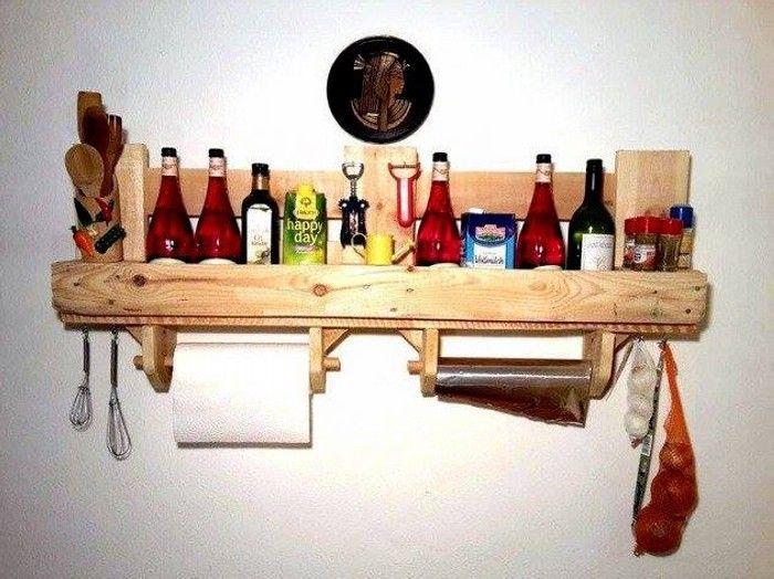 ÉTAGÈRE PALETTE Idées Et Un Tutoriel Pour La Fabriquer - Fabriquer meuble cuisine pour idees de deco de cuisine