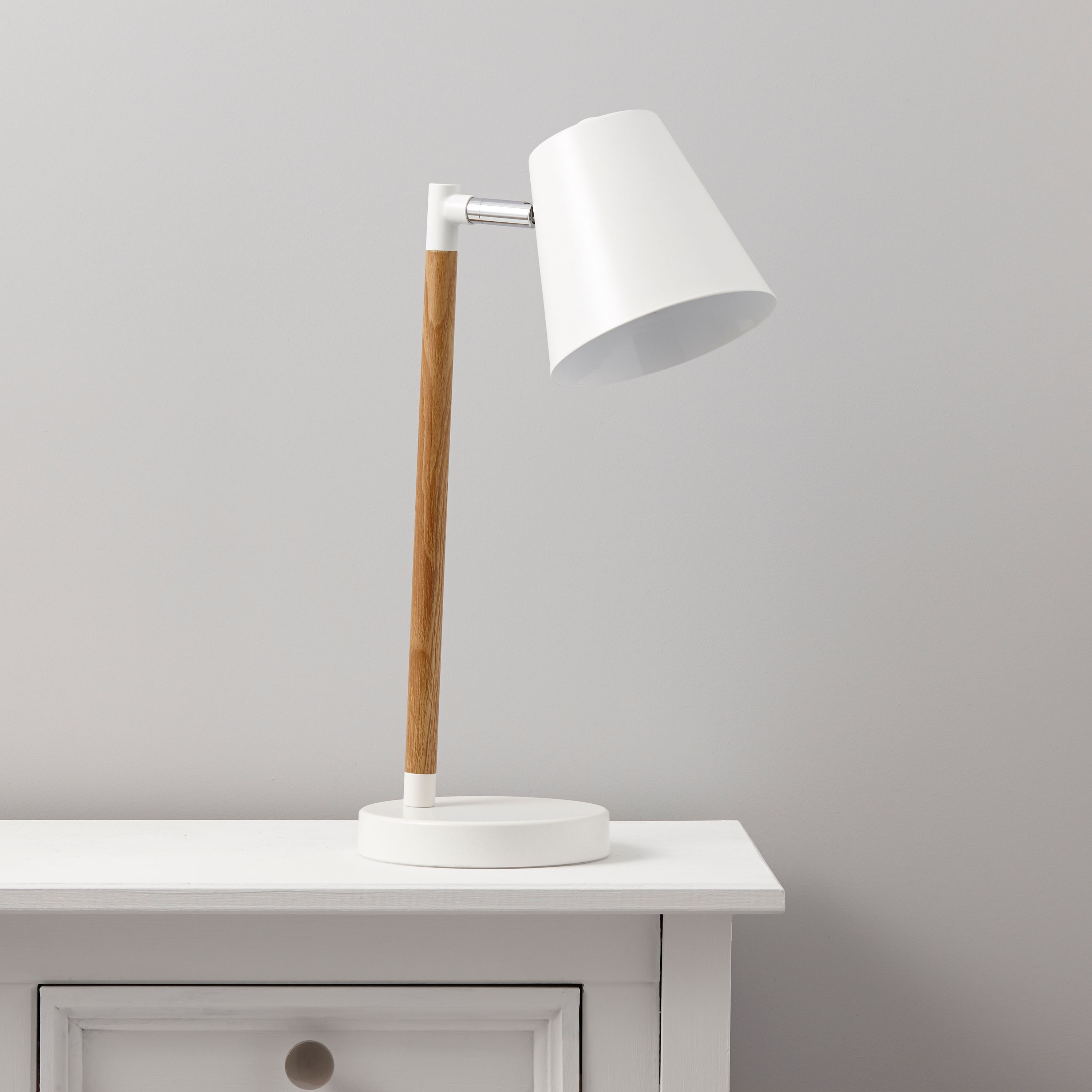 Adelsbury White Table Lamp | White table lamp, Room and Bedrooms