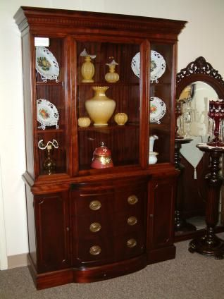 Salado Creek Antiques   the finest antiques and collectibles in Salado and  in Texas Mahogany Duncan Phyfe Style China Cabinet   Duncan Phyfe  . Antique Dining Room China Cabinets. Home Design Ideas