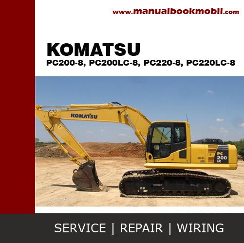 cd service manual komatsu excavator pc200 8 pc200lc 8 pc220 8 rh pinterest com komatsu excavator owners manual komatsu pc400-7 excavator service manual ru