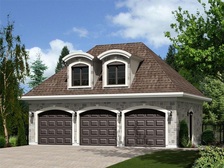 072G-0031: Three-Car Garage Apartment Plan with European Details | 3 ...
