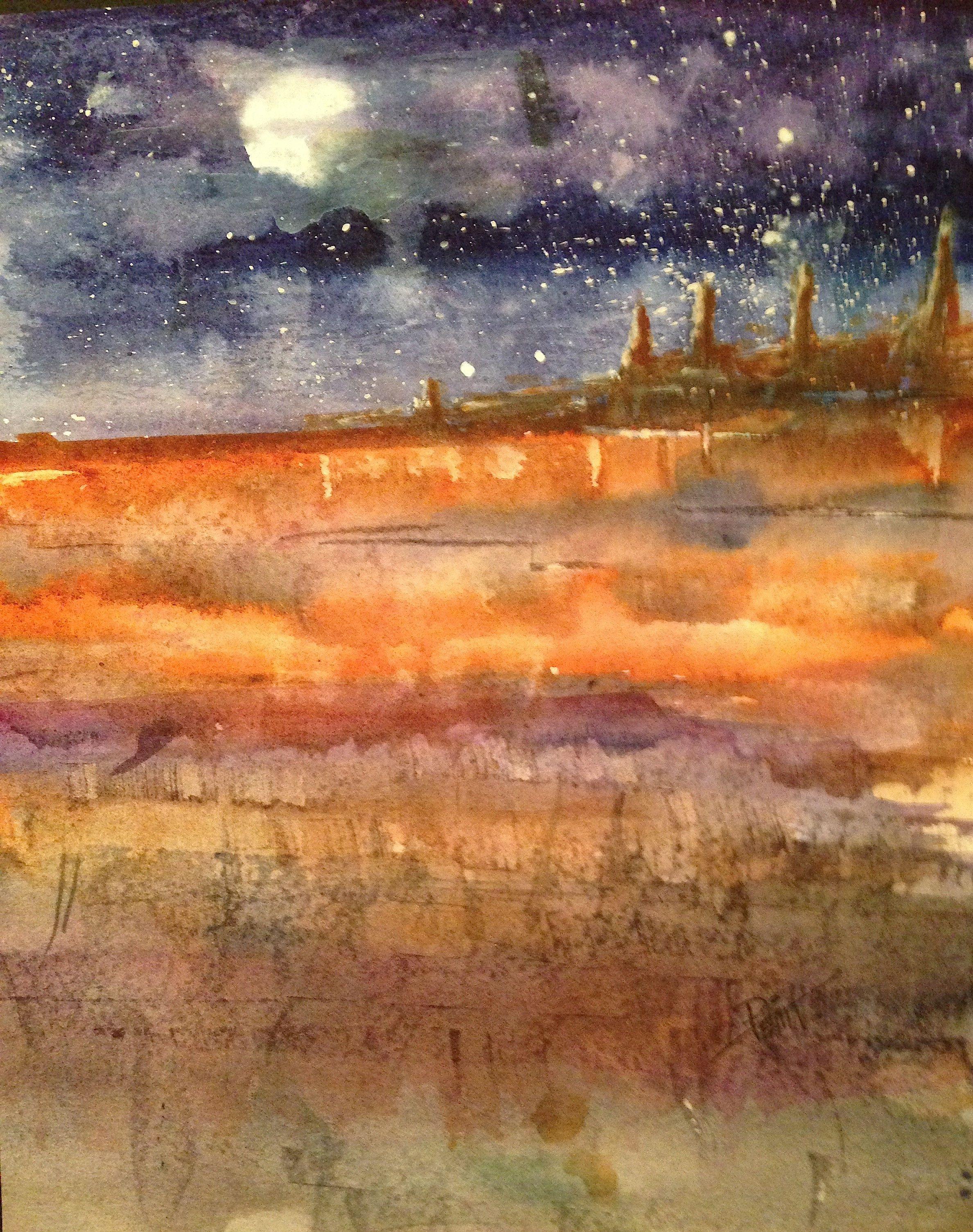 Landscape Night Desert