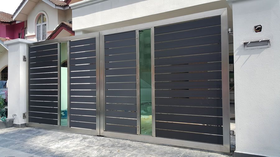 Our stainless steel gate is manufactured and welded by our skilled worker   Unlike wrought iron. Our stainless steel gate is manufactured and welded by our skilled