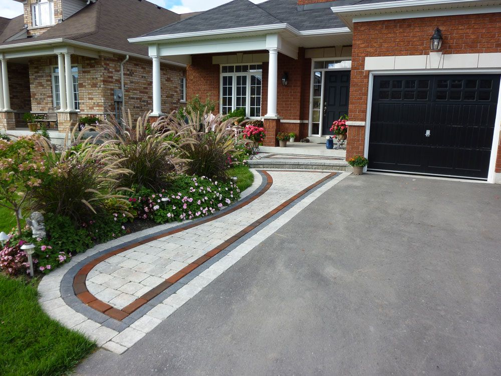Front Entrance Interlock Design Front Yard Walkway Front Yard Landscaping Design Front Yard Design