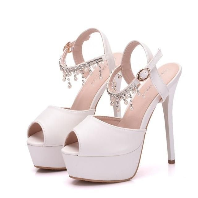 Luxury Platform High Heels Wedding Sandals
