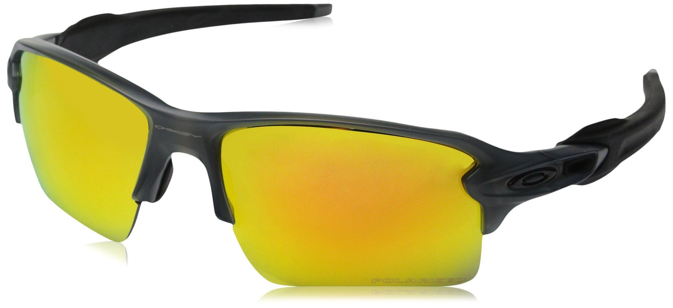 Oakley Men's Flak 2.0 XL OO9188-10 Rectangular Sunglasses, Matte Grey Smoke, 59 mm