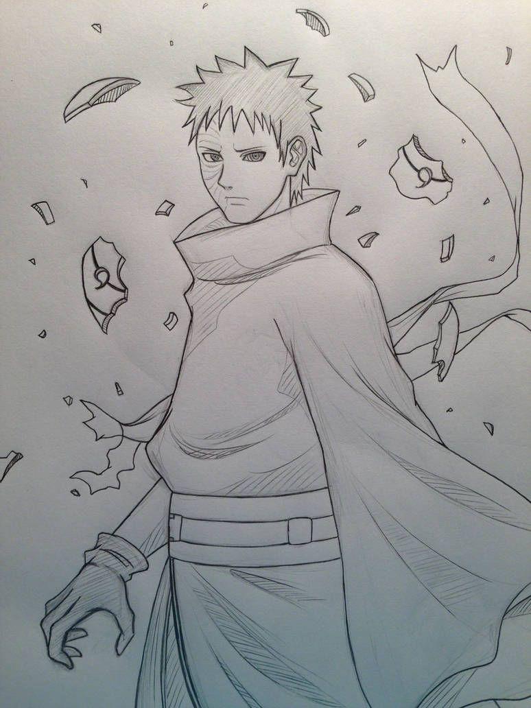 Obito By Jainanaberrie Desenhos De Anime Tutoriais De Desenho Anime Desenho De Anime