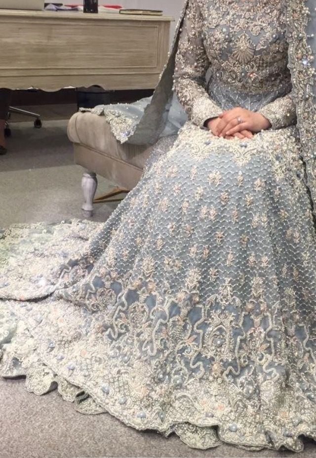 Ice Blue Gown Pakistani Bridal Dresses Pakistani Wedding