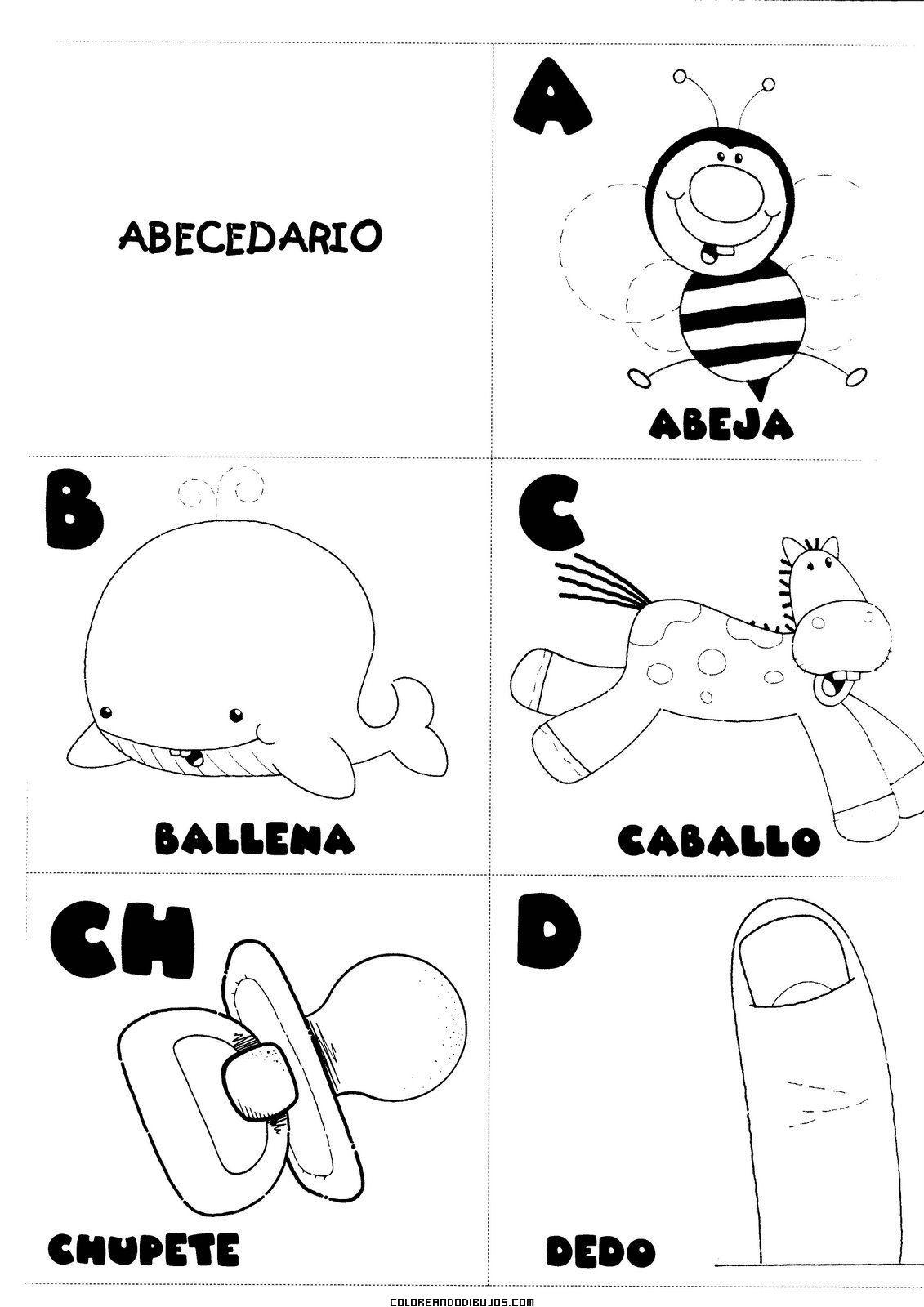 Letras A, B, C, CH, D para colorear | actividades pedagogicas ...