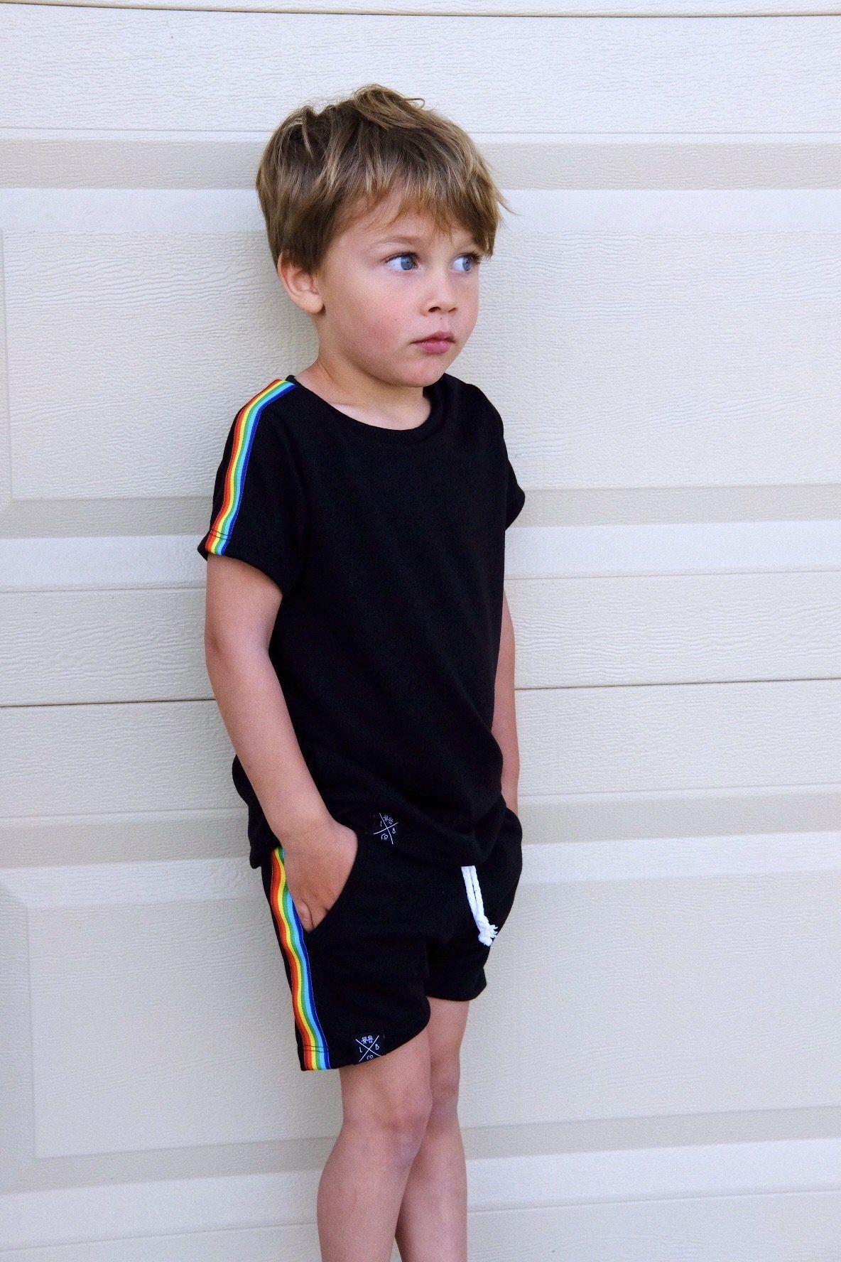 Retro Rainbow Stripe T-Shirt in 2020 | Handmade baby boy ...