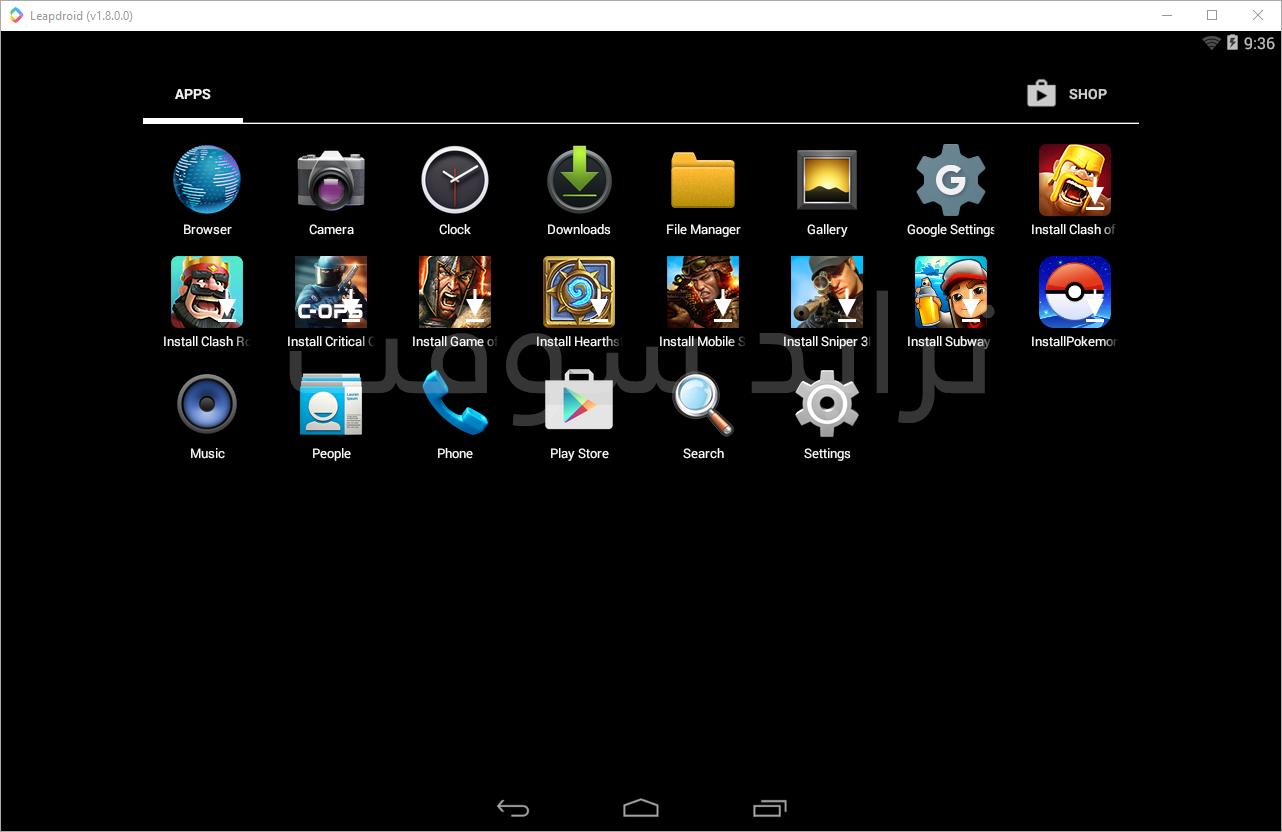 تحميل محاكي اندرويد للكمبيوتر ويندوز 7 للاجهزة الضعيفة Google Settings Android Emulator Browser
