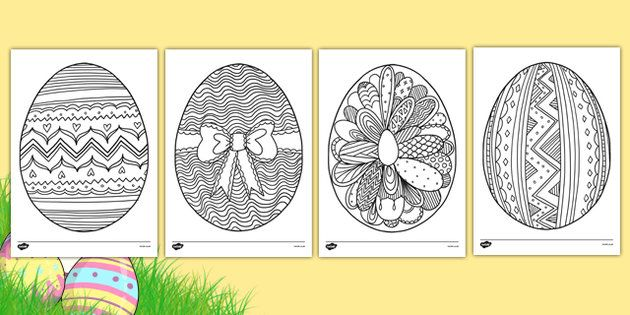 Easter Egg Mindfulness Colouring Pages Easter Coloring Sheets Easter Colouring Mindfulness Colouring