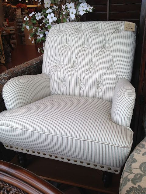 Seersucker chair from Pier One... Picture doesn't do it ...