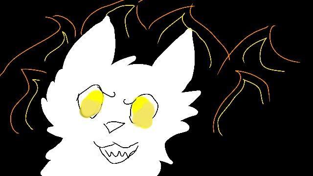 Supernatural yellow eyed deamon cat